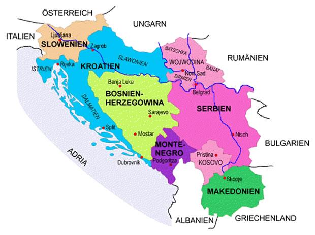 Jugoslawien Staaten